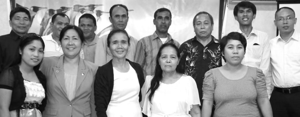 ASi Davao officers with Pastor Rogelio Nomus (back row, standing) and Pastor Jasper Love Panuncio (far right) as consultants.