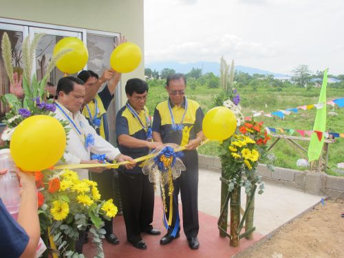 Adventist Church leaders cuts the inaugural ribbon to open the station in Mati City.